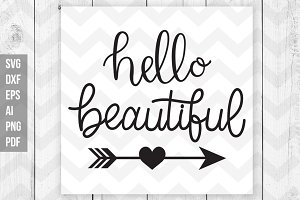 Hello beautiful svg,dxf,ai,eps,png