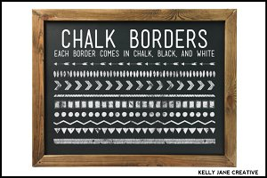 Chalkboard Borders & Background