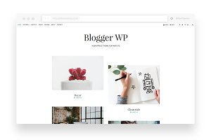 Blogger - WP Blog with WooCommerce