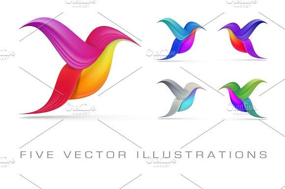 Hummingbird Abstract Symbols