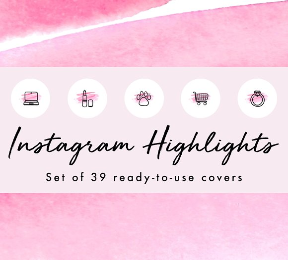 39 Watercolor Instagram Highlights