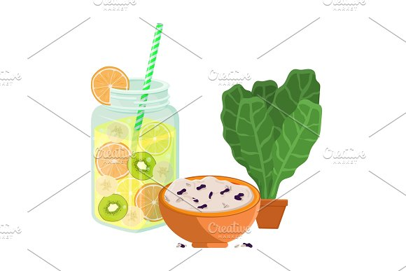 Vegetarian Food Poster Refresh Summer Detox Diet