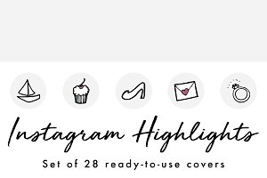 28 Doodle Instagram Highlight Covers