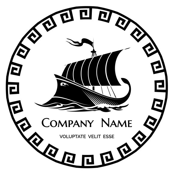galley logo logo templates creative market. Black Bedroom Furniture Sets. Home Design Ideas