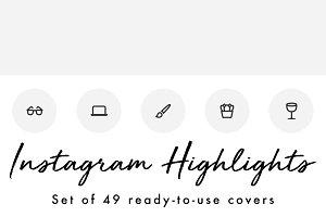 49 Minimal Gray Instagram Highlights