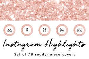 78 Rose Gold Instagram Highlights
