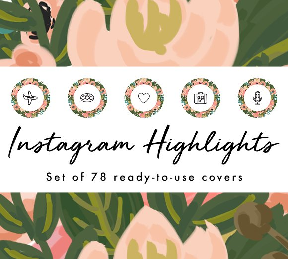 78 Floral Instagram Highlight Covers