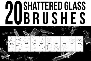 20 Shattered Glass Brushes