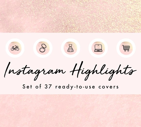 37 Watercolor Instagram Highlights