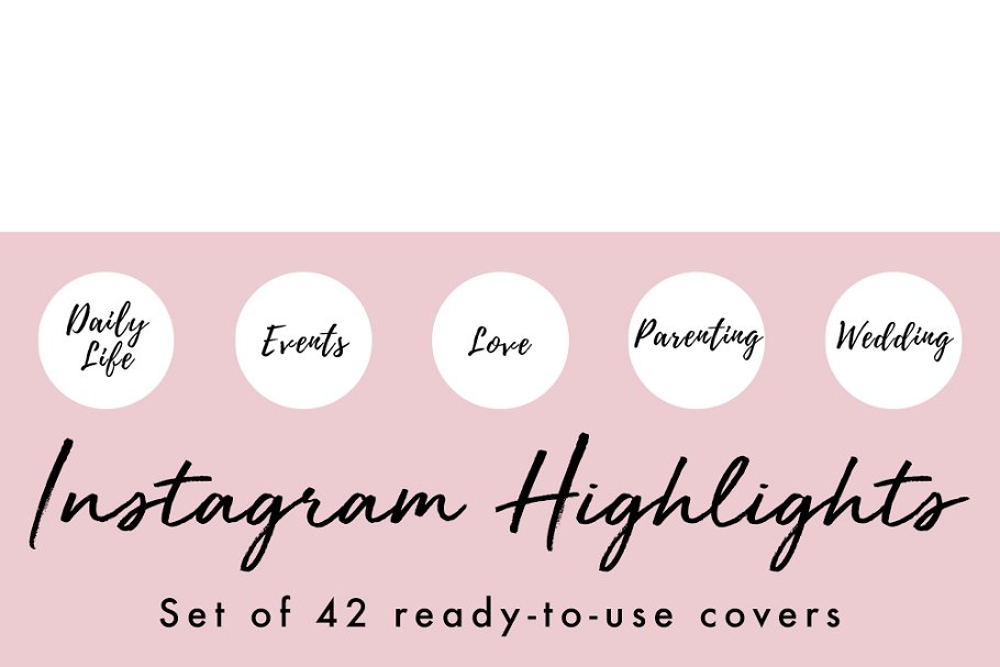 Instagram Highlight Covers Pink Music