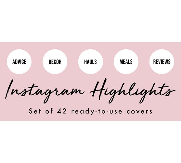 42 Word Instagram Highlight Covers