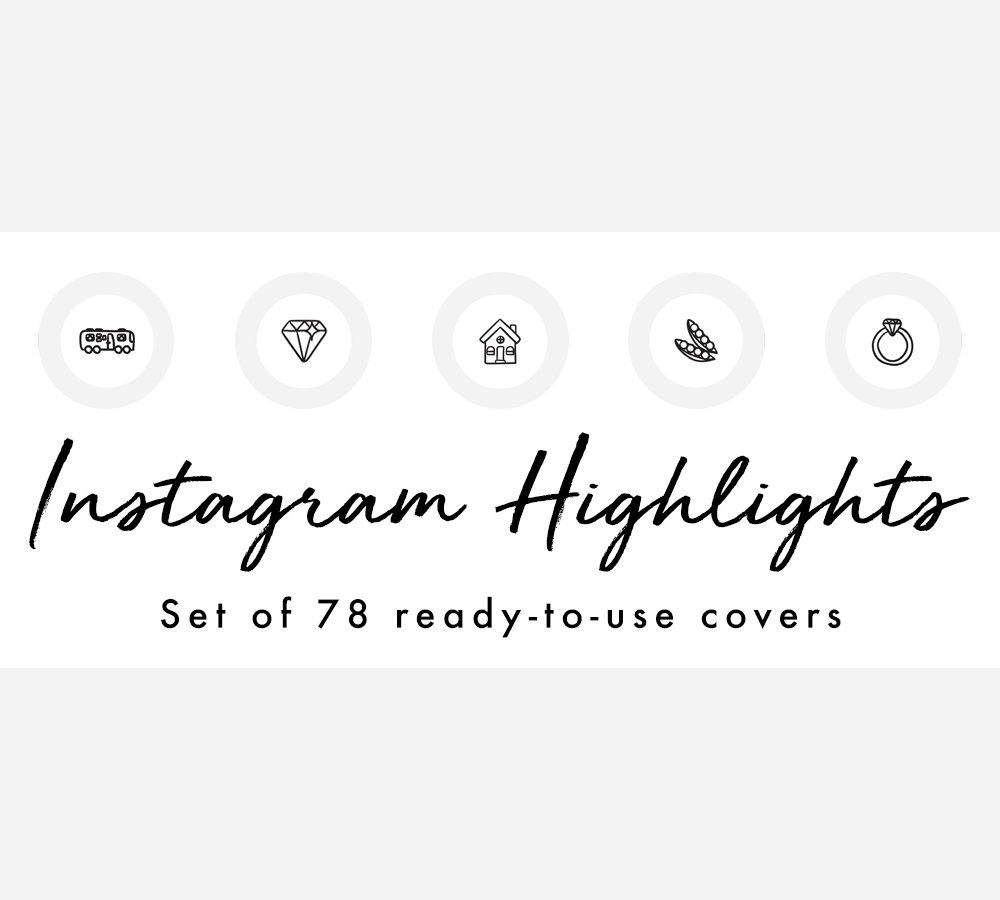 Beauty Font For Instagram: 78 Instagram Story Highlight Covers