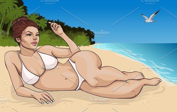Cartoon Summer Vacation Concept