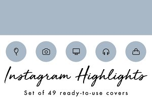 49 Minimal Blue Instagram Covers