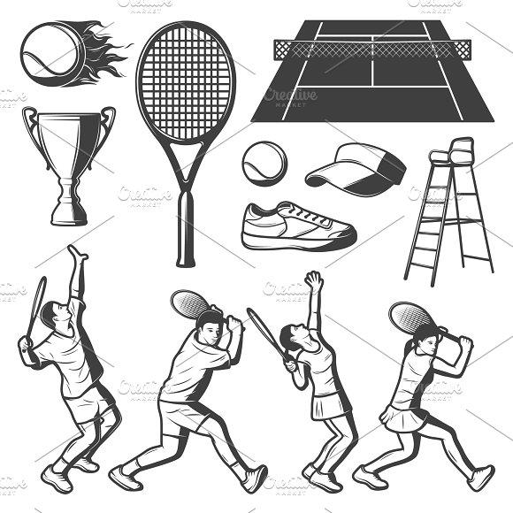 Vintage Tennis Elements Collection