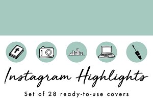 28 Mint Instagram Highlight Covers