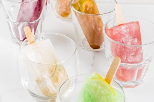 Frozen summer cocktails