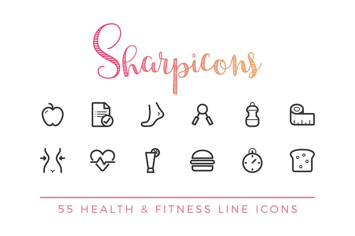Health & Fitness Line Icons