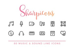 Music & Sound Line Icons