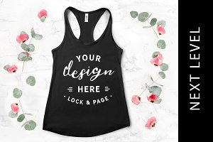Next Level Black Tank Top Mockup
