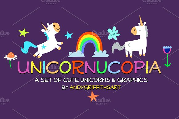 Cute Unicorn Vector Clipart