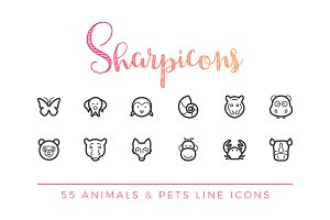 Animals & Pets Line Icons