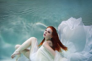 Underwater girl. Beautiful