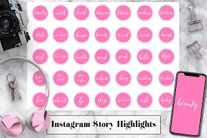 Pink Instagram Story Icons