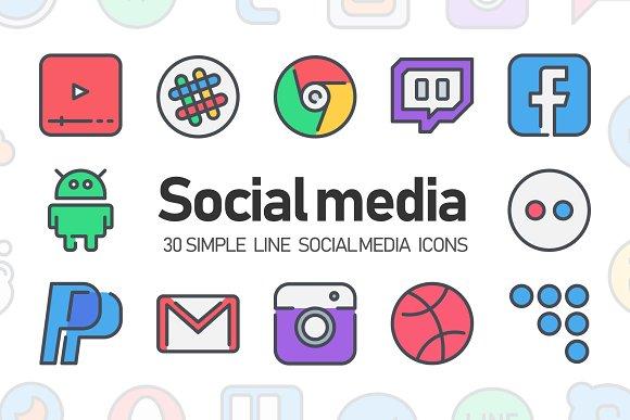 30 Social Media Icon