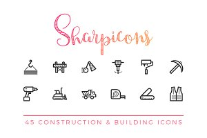 Construction & Building Line Icons