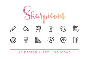 Design & Art Line Icons
