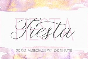 Fiesta. Font Duo. + Bonuses