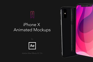 iPhone X AE animated Mockups 4K60fps