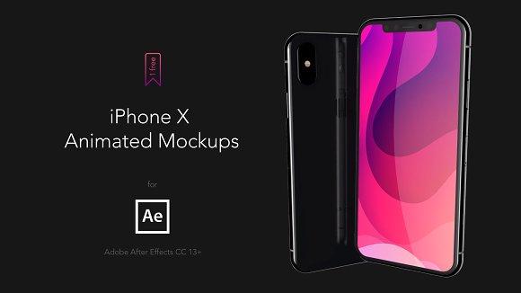 IPhone X AE Animated Mockups 4K60fps