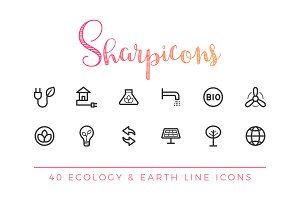 Ecology & Earth Line Icons