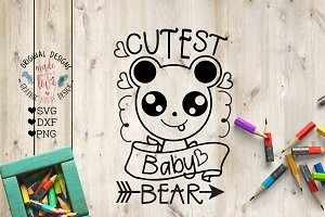 Cutest Baby Bear Cut File