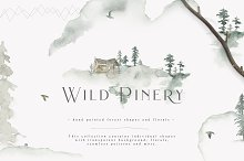 Wild Pinery Collection by Julia Dreams in Illustrations