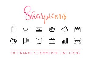 Finance & Commerce Line Icons