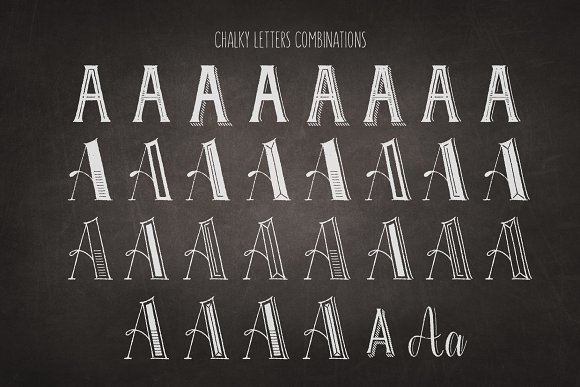 Chalky Letters font collection in Lettering Fonts - product preview 14