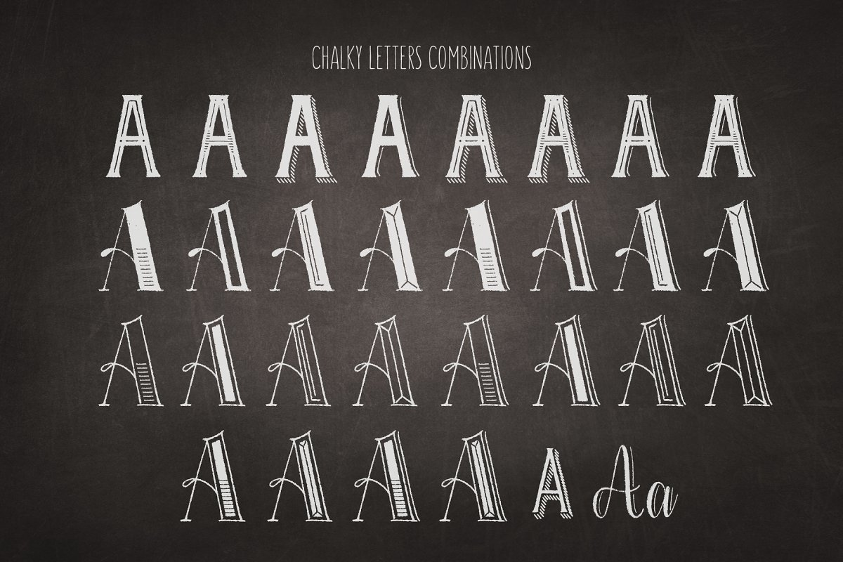 Chalky Letters font collection in Lettering Fonts - product preview 2