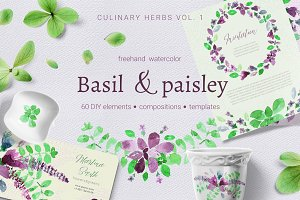 Basil & Paisley - watercolor set