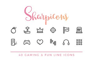 Gaming & Fun Line Icons