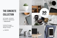 The Concrete Collection Photo Bundle by Moyo Studio in Graphics