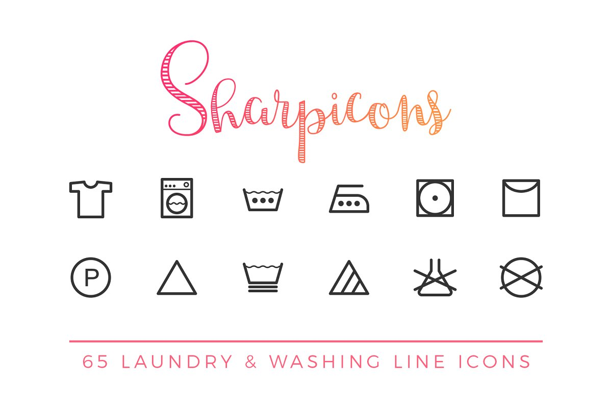 Laundry & Washing Line Icons