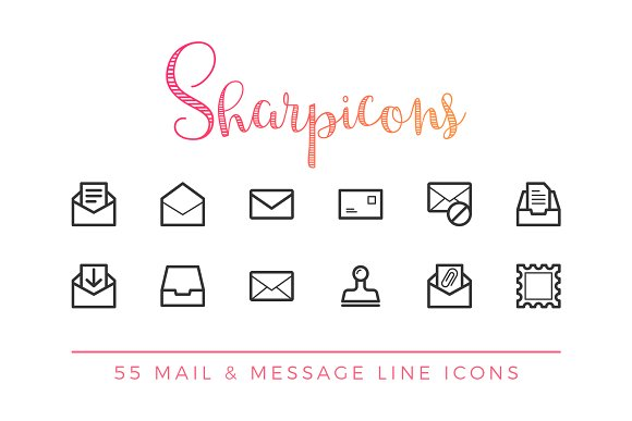Mail & Message Line Icons