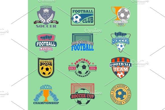 European Football Soccer Lable Vector Embleme Template Team School Design Championship Elements Tournament Icon Football Symbol Team Badge Sport Competition