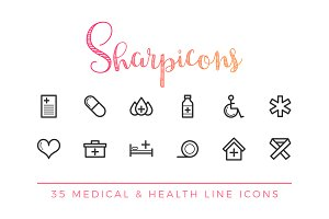 Medical & Health Line Icons