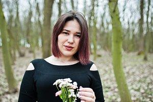 Brunette girl in spring