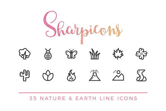 Nature & Earth Line Icons