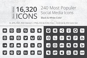 240 Round Corner B/W Social Media